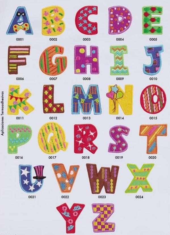Letras de tela termoadhesivas hilar fino - Letras de nombres para decorar ...