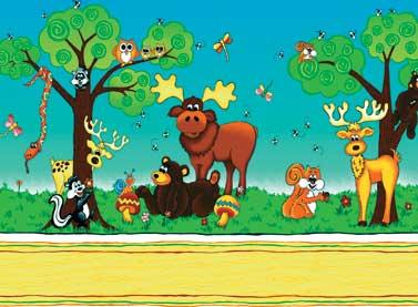 TELA CENEFA ANIMALES DEL BOSQUE