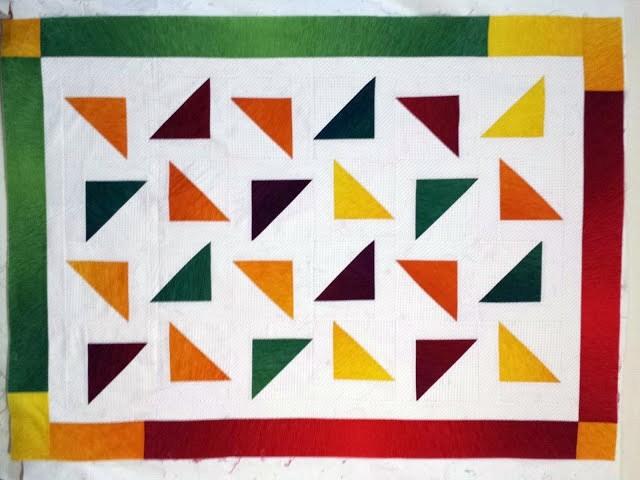Triángulos flotando